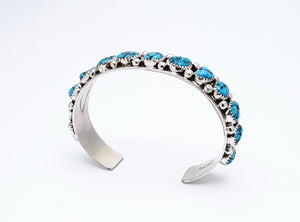 Navajo Sterling Cuff With 13 Stones