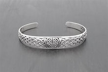 Load image into Gallery viewer, Sterling Silver Celtic Knot Cuff Bracelet