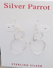 Load image into Gallery viewer, Sterling Silver Intertwined Hoops