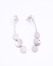 Load image into Gallery viewer, Long Sterling Silver Post Earrings With Discs