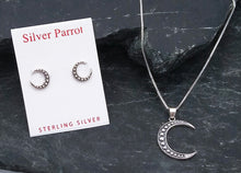 Load image into Gallery viewer, Sterling Silver Moon Pendant