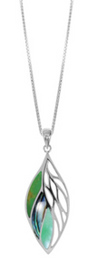 boma Sterling Silver Long Inlaid Pendant