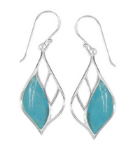 Load image into Gallery viewer, boma Sterling and Stone Leaf Earring