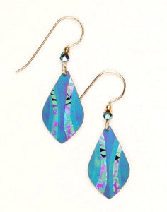 Blue Niobium Dangle With Leaf Detail