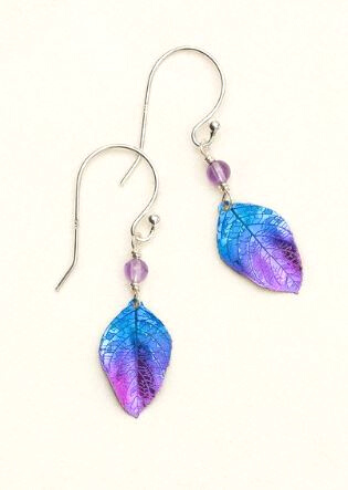 Holly Yashi Healing Leaf Earrings