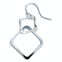 Load image into Gallery viewer, Sterling Connected Squares Earrings