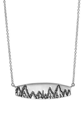 boma Mountainscape Bar Necklace