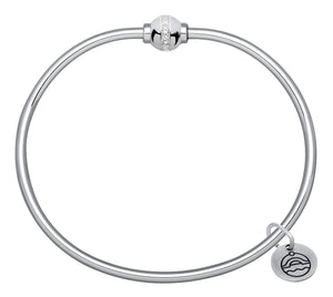 Cape Cod Single Ball Bracelet with CZ Accents