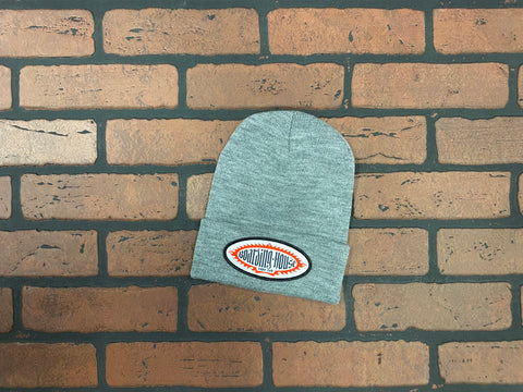 BH Heather Gray Medium Gauge Knit Beanie