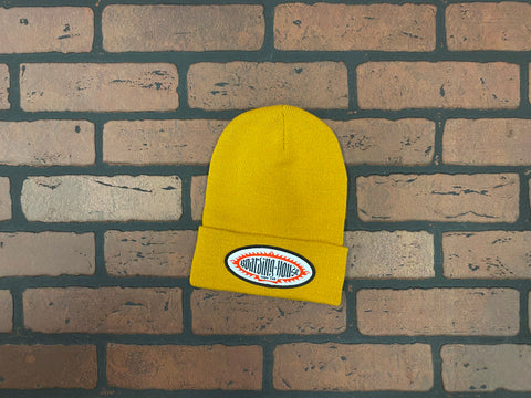 BH Yellow Medium Gauge Knit Beanie