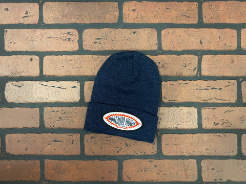 BH Heather Navy Medium Gauge Knit Beanie