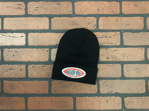 BH Black Medium Gauge Knit Beanie