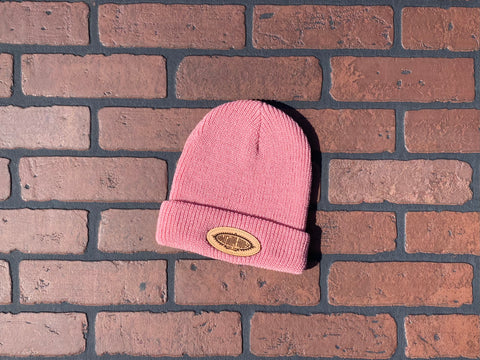 BH Rose Petal Medium Gauge Knit Beanie