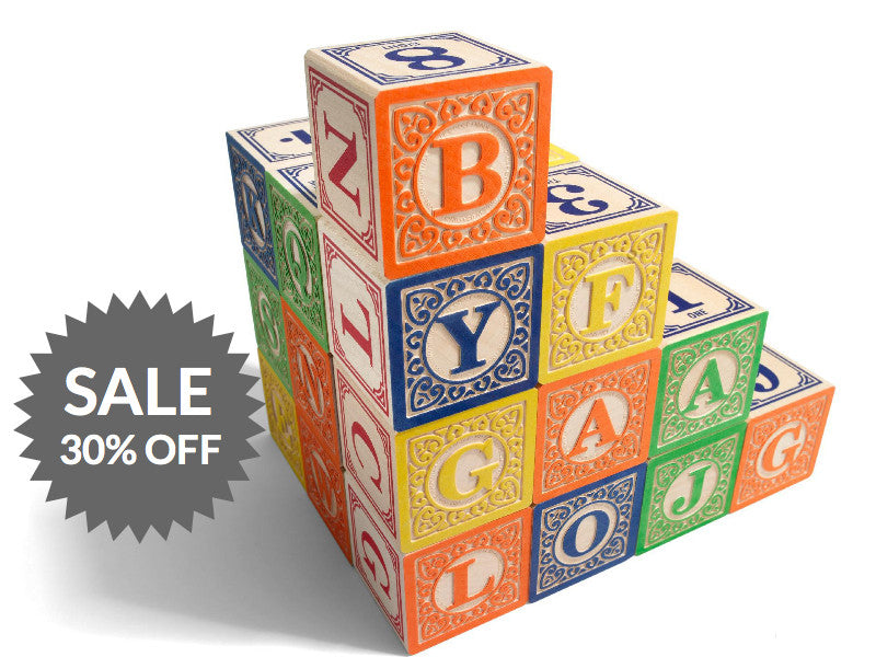 30% OFF Uncle Goose Classic ABC Blocks!