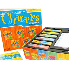 Family Charades in-a-box Compendium board game contents, view 1
