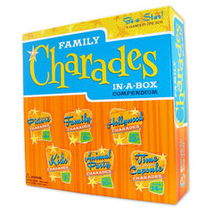 Family Charades in-a-box Compendium board game package