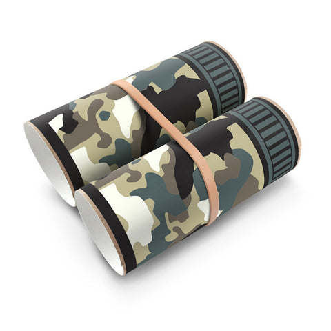 Box Play Camo Binoculars Sticker - Green