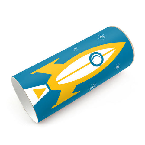 Box Play Rocket Ship Sticker