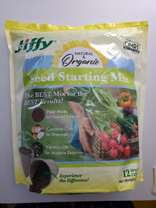 Jiffy Natural Organic Seed Starting Mix