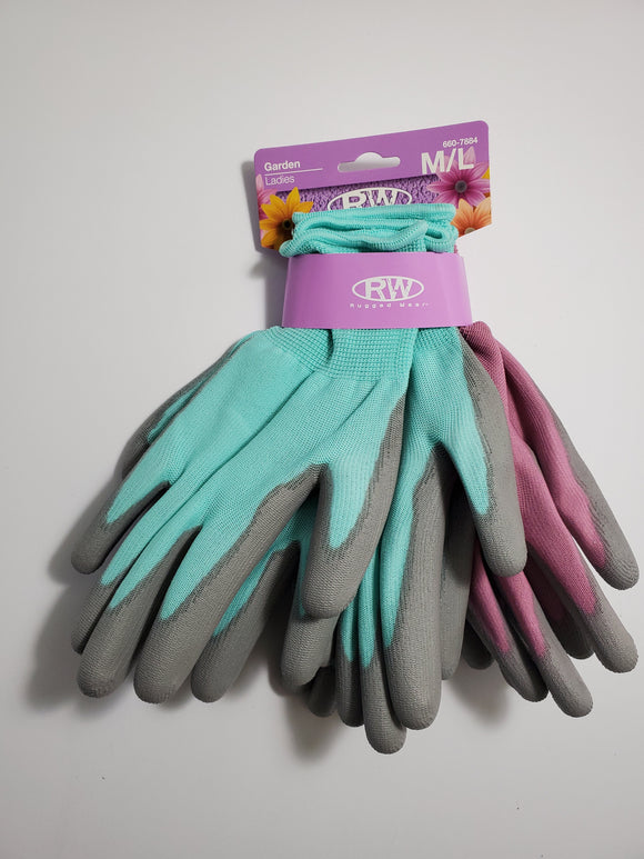 RW Ladies Garden Gloves (3 Pair) Medium