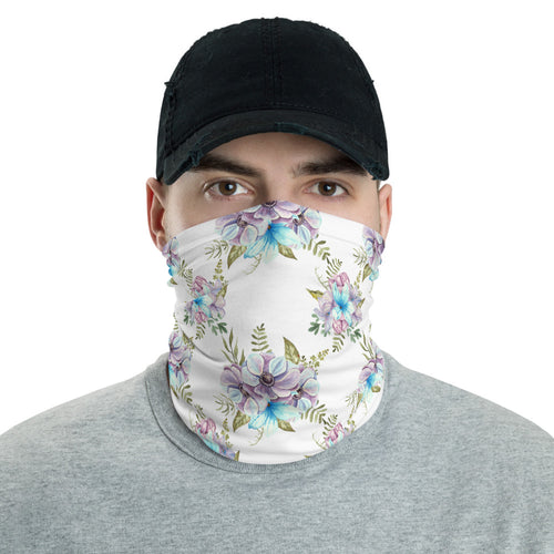 Neck Gaiter - Watercolor Flowers 01 - Buy Neck Gaiter | COVID-19 | CORONAVIRUS Face Protection Alternative