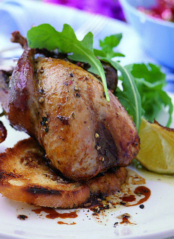 Roasted partridge