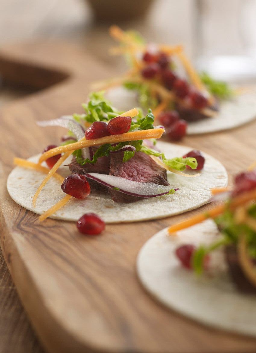 Venison & pomegranate wrap