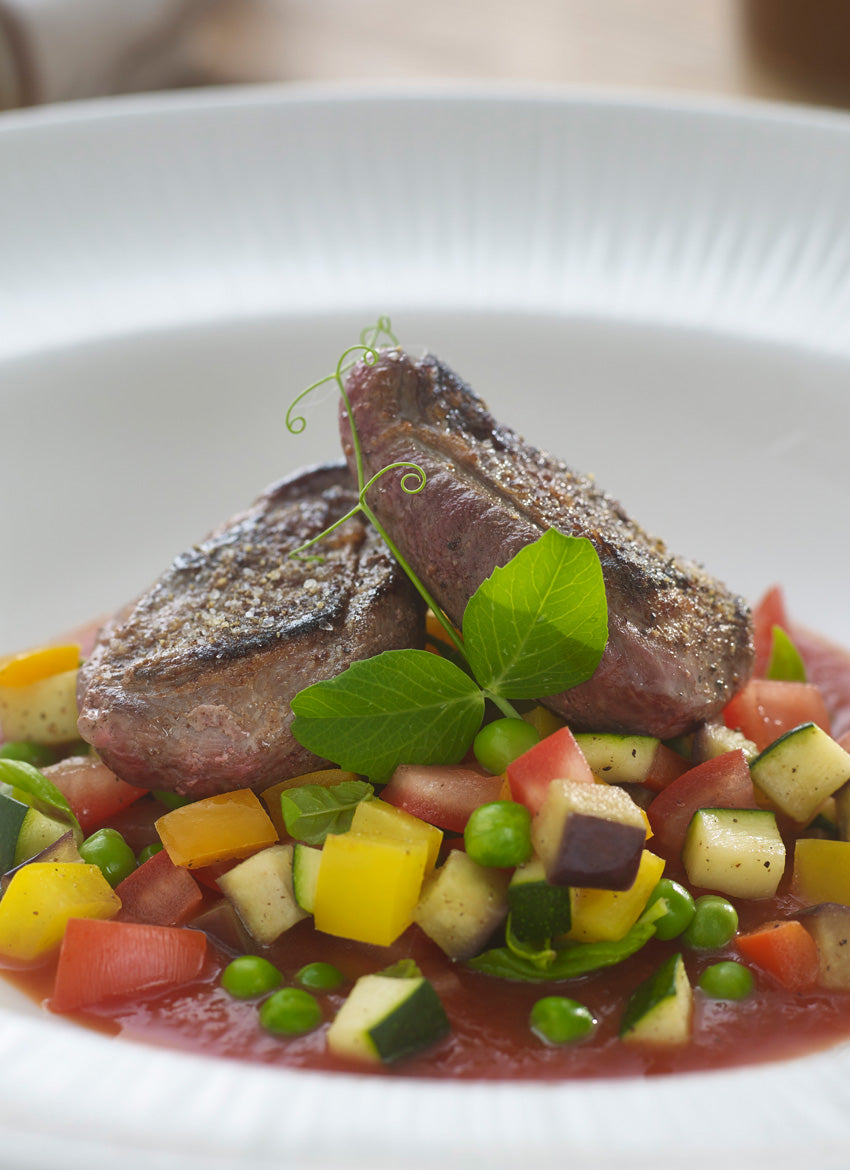 Summer grouse ratatouille