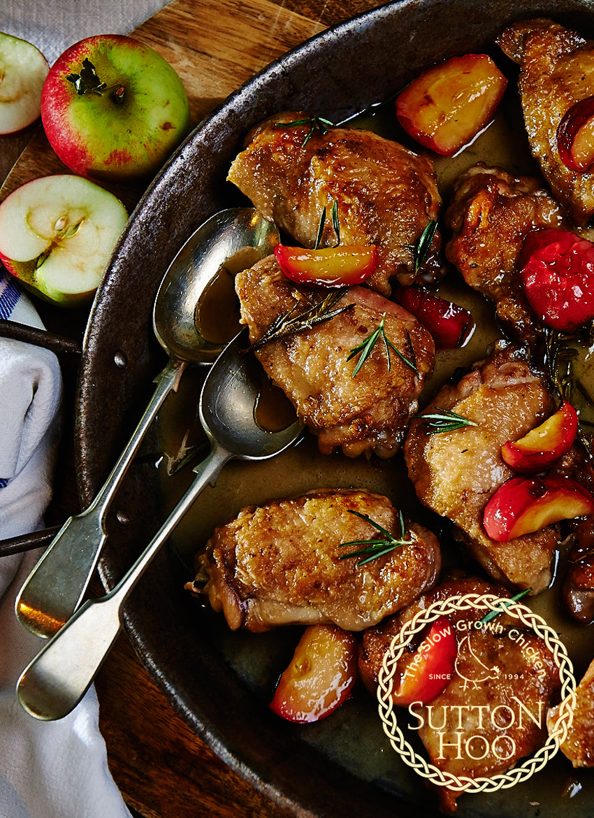 Cider Chicken Casserole with Fresh Plums