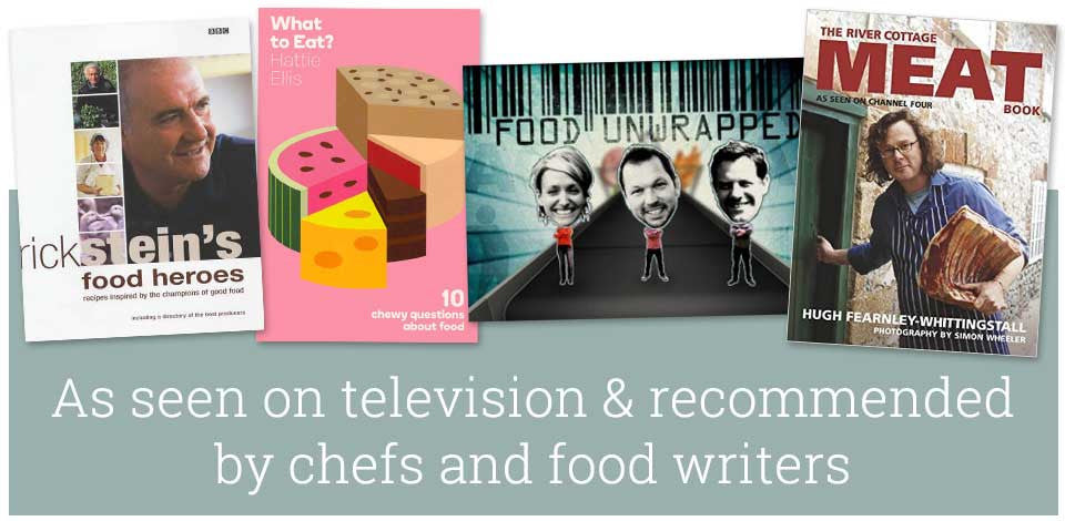 As recommended by chefs and food writers and featured on television.