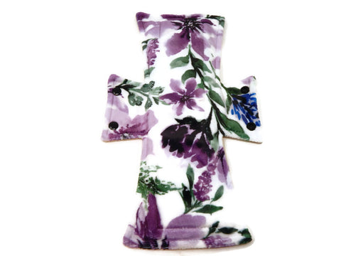 Purple Flowers Minky Single Night/Postpartum Pad - Tree Hugger Cloth Pads