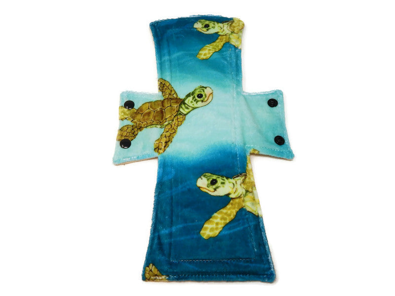 Sea Turtle Minky Single Night/Postpartum Pad - Tree Hugger Cloth Pads