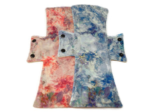 Water Colour Minky Night/Postpartum Pad Set - Tree Hugger Cloth Pads