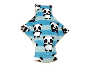 Striped Panda Single Minky Heavy Day Pad - Tree Hugger Cloth Pads