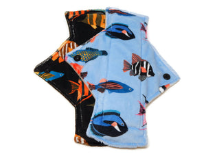 Aquarium Minky Heavy Day Pad Set - Tree Hugger Cloth Pads
