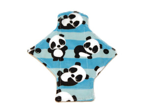 Striped Panda Single Minky Pantyliner - Tree Hugger Cloth Pads