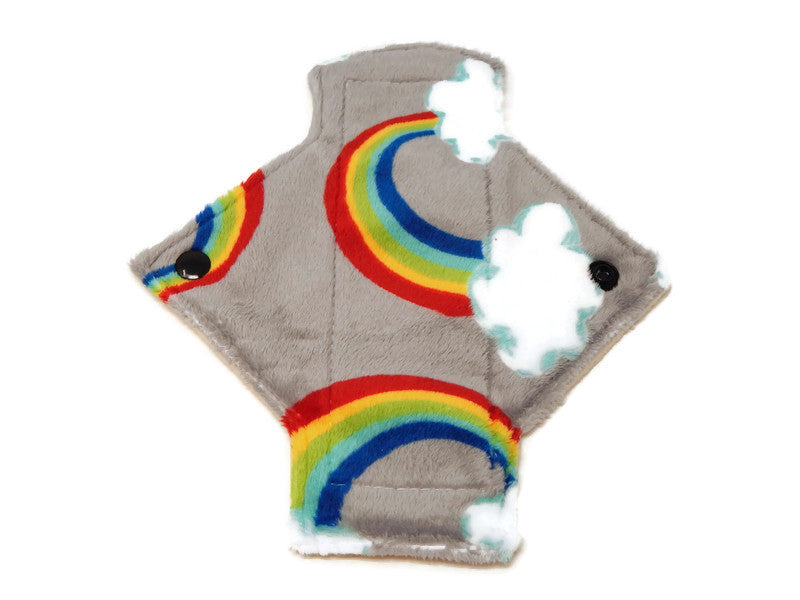 Rainbows & Clouds Single Minky Pantyliner