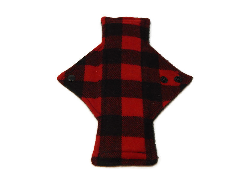 Red Plaid Flannel Cotton Single Heavy Flow Day Pad
