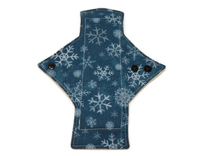 Turquoise Snowflakes Cotton Single Heavy Flow Day Pad