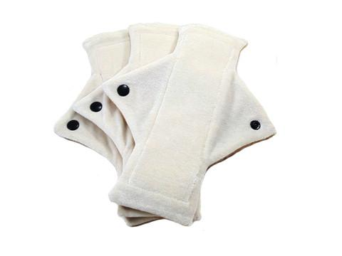 Natural Un-Dyed Organic Bamboo Heavy Flow Day Pads -One Dozen - Tree Hugger Cloth Pads