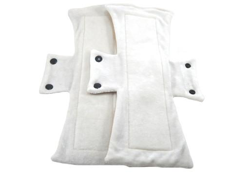 Natural Un-dyed Organic Bamboo Velour Night/Postpartum Pads -One Dozen - Tree Hugger Cloth Pads