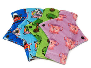 Exclusive Print Minky Heavy Flow Day Pad Set - Tree Hugger Cloth Pads