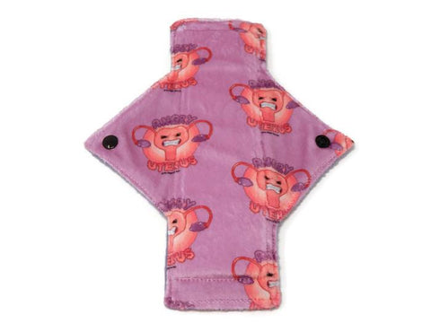 Exclusive Angry Uterus Minky Single Light Flow Day Pad - Tree Hugger Cloth Pads