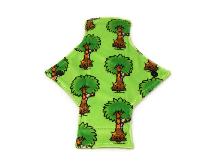 Exclusive Tree Hugger Minky Single Light Flow Day Pad - Tree Hugger Cloth Pads