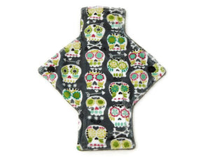 Sugar Skulls Minky Light Flow Single Day Pad - Tree Hugger Cloth Pads