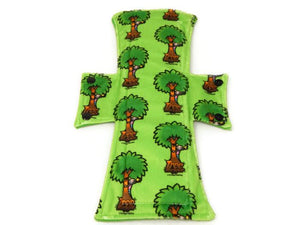 Exclusive Tree Hugger Minky Single Night/Postpartum Pad - Tree Hugger Cloth Pads