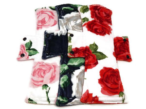 Rose Minky Night/Postpartum Pads - Tree Hugger Cloth Pads