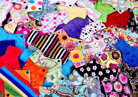 SAVE on Surprise Me! All You Need/Full Stash Package -Minky - Tree Hugger Cloth Pads