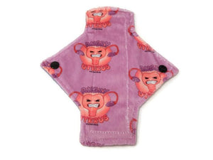 Exclusive Angry Uterus Minky Single Pantyliner - Tree Hugger Cloth Pads