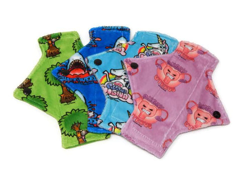 Exclusive Print Minky Pantyliner Set - Tree Hugger Cloth Pads